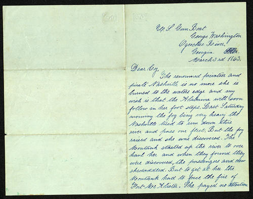Letter from George Turner to his Cousin Ursula , 03 Mar 1863