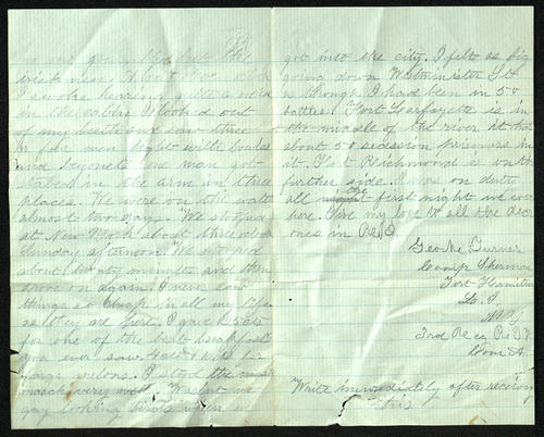 Letter from George Turner to his Parents, 11 Sep 1861