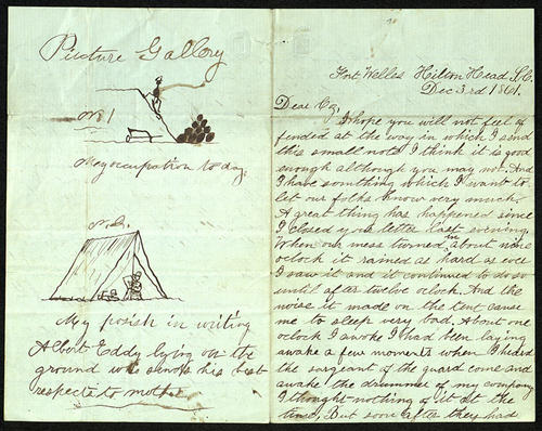 Letter from George Turner to his Cousin, 03 Dec 1861