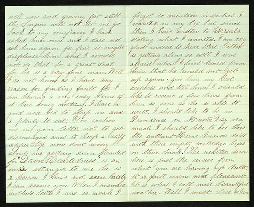 Letter from George Turner to his Father, 06 Nov 1863