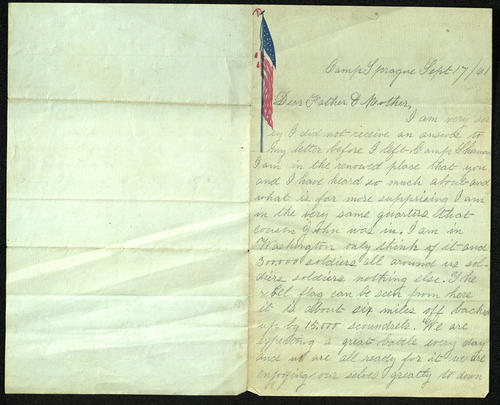 Letter from George Turner to his Parents, 17 Sep 1861