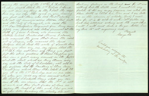 Letter from George Turner to his Aunt, 17 Feb 1864