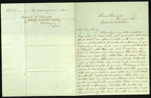 Letter from George Turner to his Aunt, 14 Sep 1863