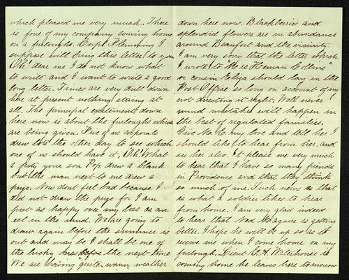Letter from George Turner to his Mother, 11 May 1863
