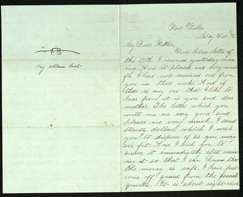 Letter from George Turner to his Father, 31 May 1862