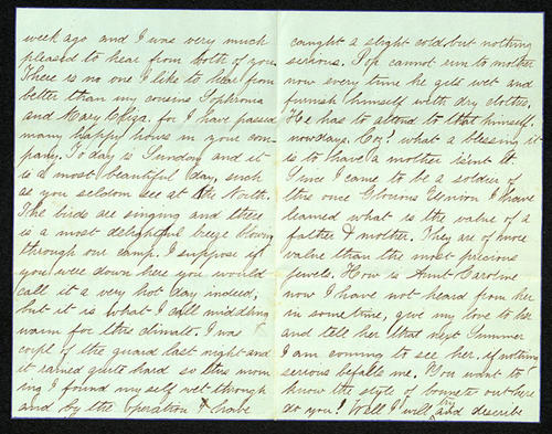 Letter from George Turner to his Cousins Sophronia, Mary Eliza and MariEtta, 14 Jun 1863
