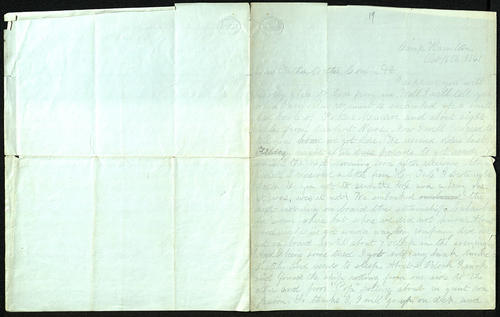 Letter from George Turner to his Mother, Father, Cousin, etc., 16 Oct 1861
