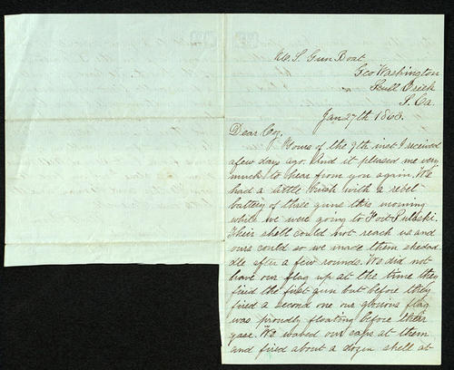 Letter from George Turner to his Cousin, 27 Jan 1863
