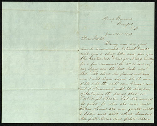 Letter from George Turner to his Father, 21 Jun 1863