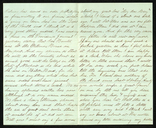 Letter from George Turner to his Aunt, 23 Aug 1863
