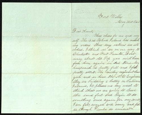 Letter from George Turner to his Aunt Susan Buffington, 21 May 1862