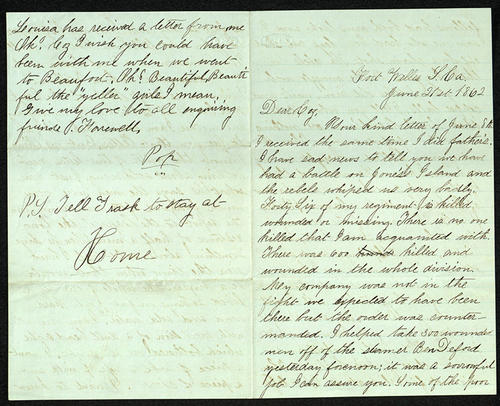 Letter from George Turner to his Cousin, 21 Jun 1862