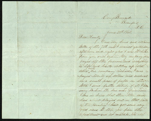 Letter from George Turner to his Aunt Susan, 23 Jun 1863