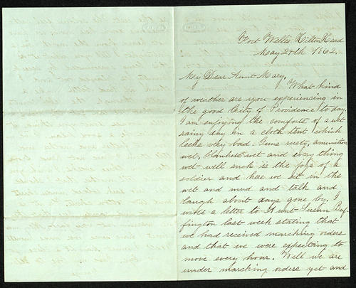 Letter from George Turner to his Aunt Mary, 24 May 1862