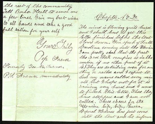 Letter from George Turner to his Cousin, 02 Dec 1861