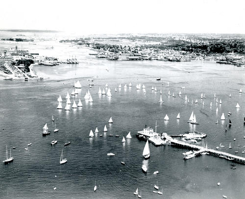 Aerial View of Races, Newport Harbor