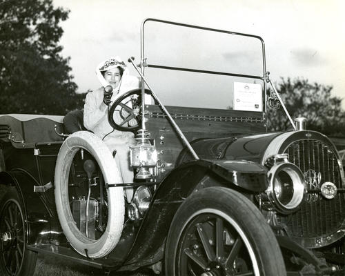 1910 Model Car and Woman