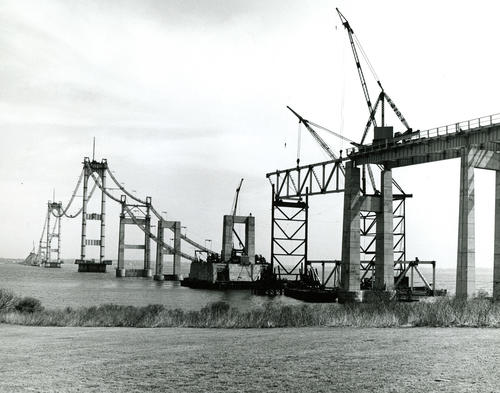 Newport Bridge Under Construction