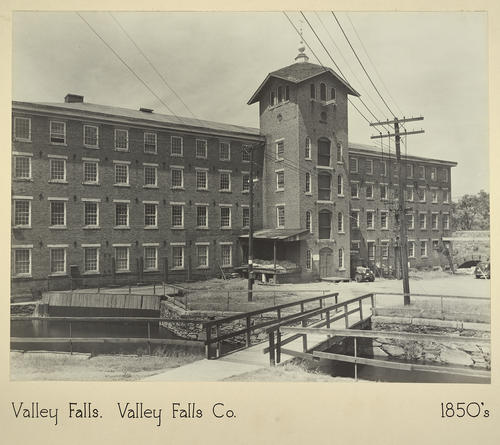 Valley Falls. Valley Falls Co. 1850s