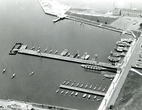 Aerial View of Naval Station Newport