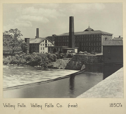 Valley Falls. Valley Falls Co. (rear) 1850s