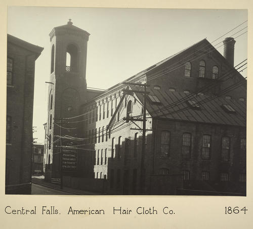 Central Falls. American Hair Cloth Co. 1864