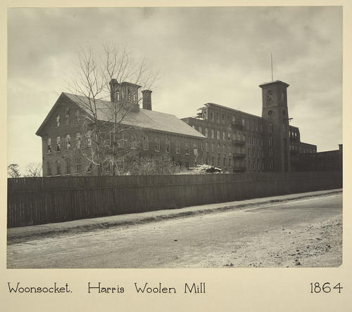 Woonsocket. Harris Woolen Mill 1864