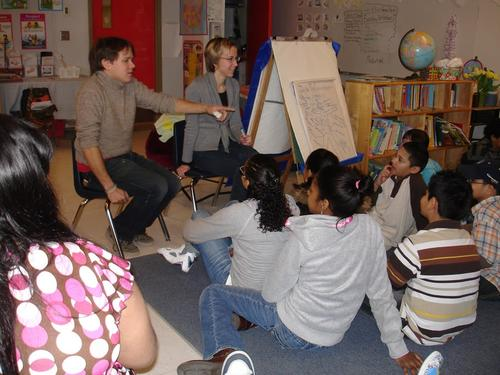 Students at Charles Fortes Elementary School with UPP Arts