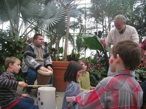 UPP percussion workshop at Botanical Center
