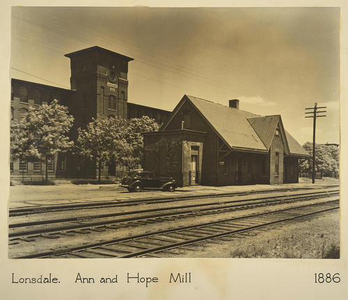 Lonsdale. Ann and Hope Mill 1886