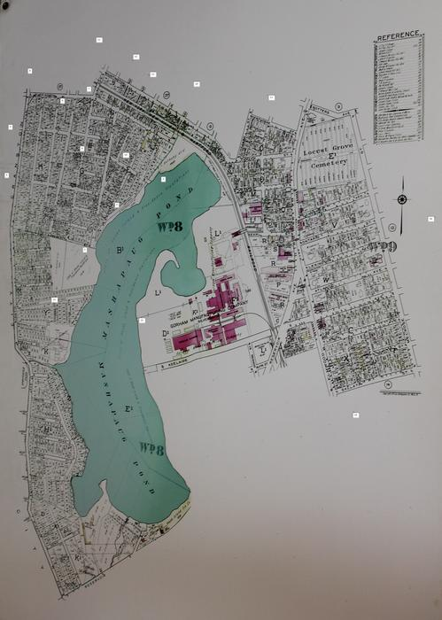 Map of Mashapaug Pond and West Elmwood neighborhood