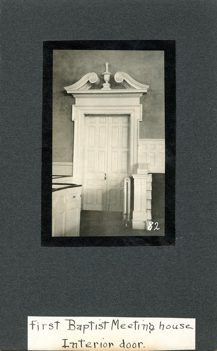First Baptist Meeting House, Interior Door