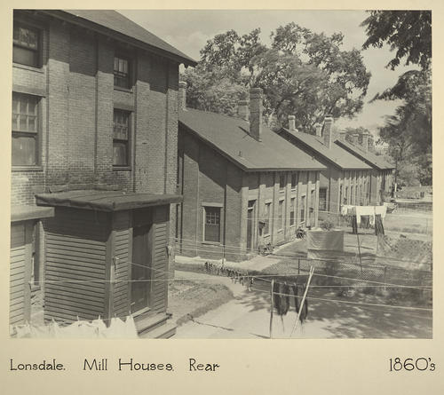 Lonsdale. Mill Houses. Rear 1860s
