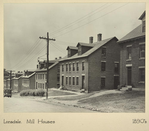 Lonsdale. Mill Houses 1890s
