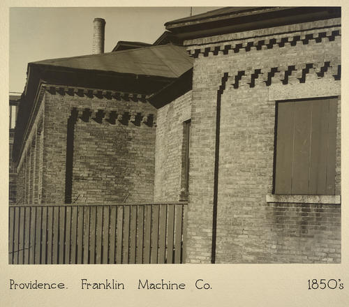 Providence. Franklin Machine Co. 1850s