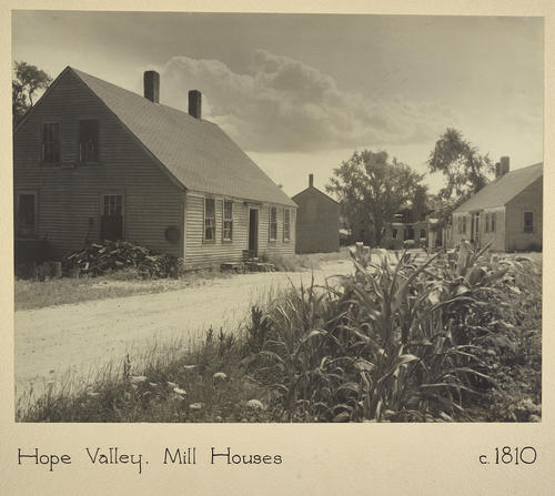 Hope Valley. Mill Houses c. 1810