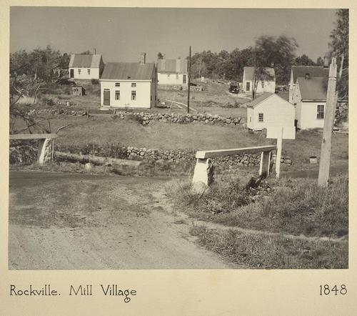 Rockville. Mill Village 1848