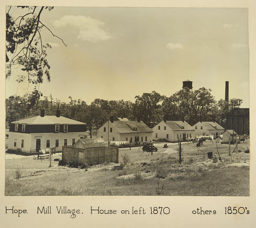 Hope. Mill Village. House on left 1870 others 1850s