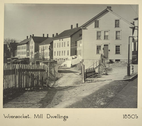 Woonsocket. Mill Dwellings 1850s