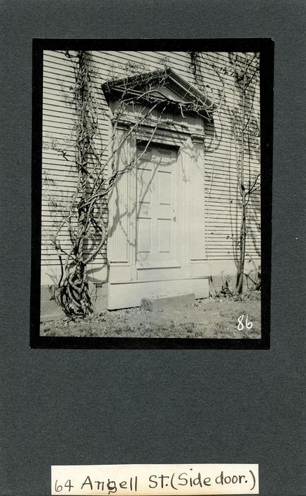64 Angell St., Side Door