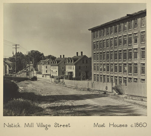 Natick. Mill Village Street Most Houses c. 1860