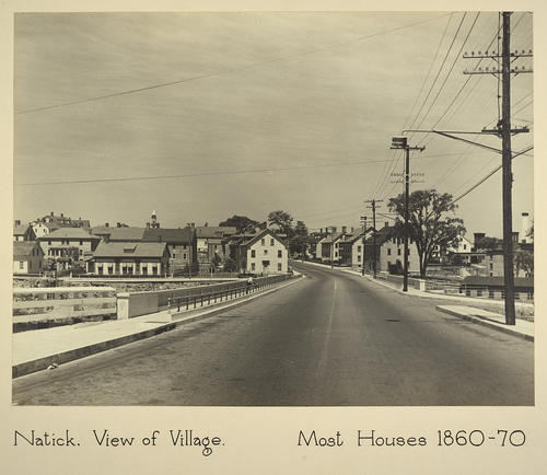 Natick. View of Village. Most Houses 1860-70