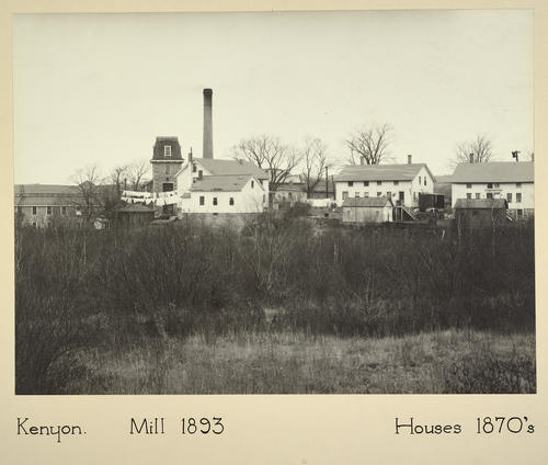 Kenyon. Mill 1893 Houses 1870s