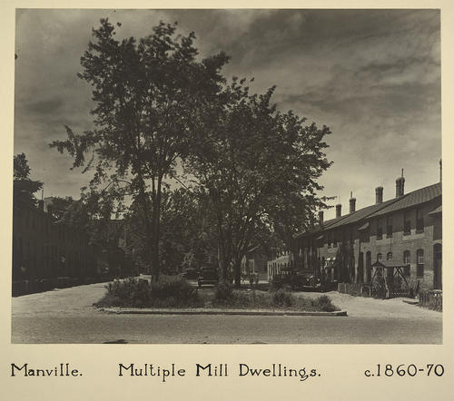 Manville. Multiple Mill Dwellings. C. 1860-70