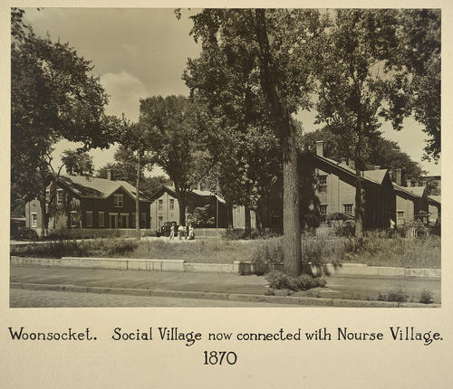 Woonsocket. Social Village now connected with Nourse Village. 1870