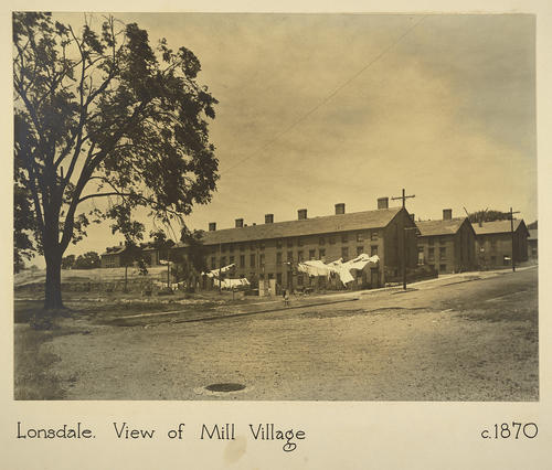 Lonsdale. View of Mill Village c. 1870