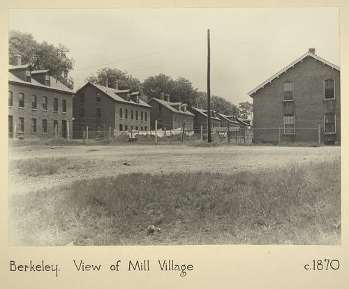 Berkeley. View of Mill Village c. 1870