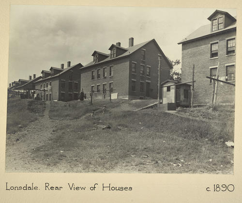 Lonsdale. Rear View of Houses c. 1890