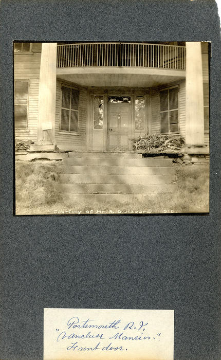 Portsmouth, R.I., Vaucluse Mansion, Front Door