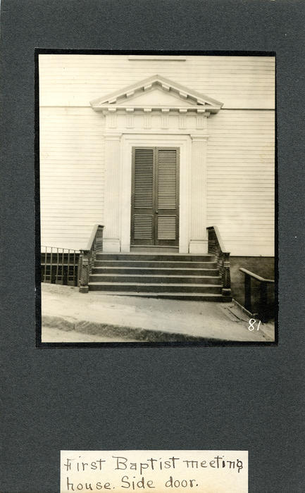 First Baptist Meeting House, Side Door
